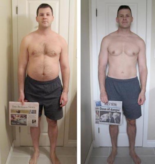 34 inch waist male weight loss
